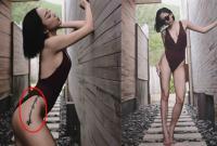 Ca sĩ Tóc Tiên khoe đường cong gợi cảm và để lộ hình xăm ở hông khi diện áo tắm