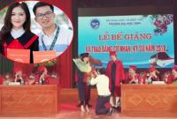 Nữ sinh xinh đẹp bất ngờ được thầy giáo quỳ gối cầu hôn trong buổi lễ tốt nghiệp