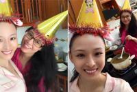 Hoa hậu Trương Hồ Phương Nga vui vẻ tổ chức sinh nhật cho bạn thân Thùy Dung