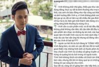 Quang Vinh phủ nhận việc là con nhà đại gia, không cần đi hát vẫn sống sung sướng
