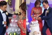 Chú rể 26 tuổi đầy vẻ tâm sự trong buổi lễ đón cô dâu 62 tuổi