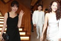 Hari Won lẻ bóng, Bảo Anh và Hồ Quang Hiếu 'đụng mặt' khi đến dự đám cưới Nhã Phương - Trường Giang