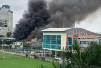 NÓNG: Cháy lớn gần trụ sở Liên đoàn bóng đá Việt Nam
