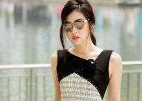 Á hậu Tú Anh khoe style thời trang thanh lịch dạo phố