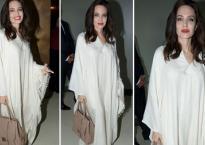 Angelina Jolie mặc đồ như 'phù thủy trắng'