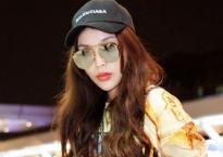 Hoa hậu Kỳ Duyên nổi bật một góc sân bay với style cực 'chất' lên đường dự Tuần lễ thời trang