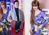 Lý Thần đi giày cao gót đỏ sánh đôi cùng mỹ nhân lạ tại sự kiện