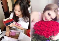 Hot girl và hot boy ngày 20/10/2017: Thúy Vi tự mua hàng hiệu làm quà cho bản thân, Lilly Luta được tặng nhiều hoa