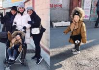 Con trai Ly Kute cực yêu khi cùng mẹ đi du lịch Hàn Quốc
