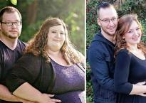Tình yêu và niềm ao ước được làm bố mẹ đã biến thành động lực khiến cặp đôi giảm được số cân khủng