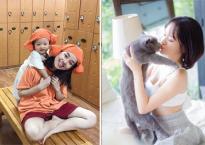 Hot girl và hot boy ngày 13/12/2017: Ly Kute rạng rỡ bên con ở Hàn Quốc, Thúy Vi gợi cảm chơi đùa cùng mèo cưng