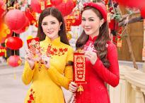 'Hội chị em' Kelly Nguyễn – Lilly Luta nền nã với áo dài Xuân xuống phố