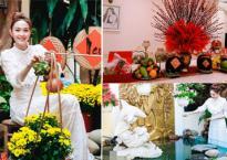 Ca sĩ Minh Hằng tự tay trang trí nhà ngập tràn sắc hoa