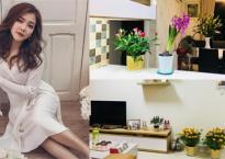 Không gian ngập tràn sắc hoa trong căn hộ ca sĩ Thanh Ngọc