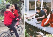Hot girl và hot boy 18/2/2018: DJ Tít ngọt ngào hôn chồng trên xe đạp, Phan Thành hạnh phúc bên người yêu vào dịp Tết