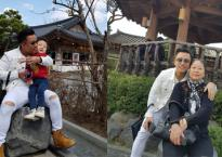 Tuấn Hưng cùng mẹ và con trai đi du lịch Hàn Quốc