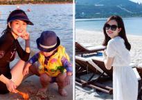 Ly Kute xinh đẹp đưa con trai đi du lịch ở Nha Trang