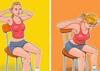 7 động tác giúp bạn có ngay bụng phẳng, eo thon mà chỉ cần ngồi trên ghế