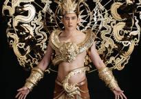 Siêu mẫu Minh Trung diện trang phục dát vàng nặng 40kg thi Mister International