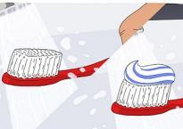 Làm ướt bàn chải trước khi đánh răng - thói quen sai lầm 99,99% mọi người mắc phải