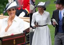Sánh vai Hoàng tử Harry, Meghan Markle đẹp mê hoặc trong bộ váy trắng hiệu Givenchy