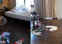 Hình ảnh 'bãi chiến trường' ở khách sạn và câu chuyện phía sau khiến nhiều người phải suy ngẫm