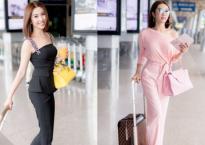 'Nàng dâu đanh đá' Thuý Ngân khoe vóc dáng gợi cảm ở sân bay