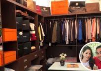 Khám phá phòng thay đồ ngập tràn hàng hiệu của vợ chồng Quyền Linh