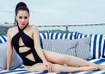 Thu Minh thả dáng nuột nà hơn cả gái 18 với bikini trong nắng vàng biển xanh