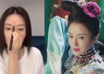 Học 'Phú Sát Hoàng Hậu' Tần Lam makeup Lạc Thần trong phim 'Diên Hy công lược'