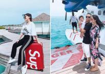 Bảo Thy cùng anh chị đi nghỉ dưỡng ở thiên đường Maldives