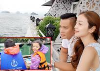 Gia đình Hoa hậu Jennifer Phạm khám phá Hạ Long