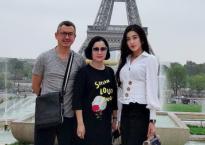Á hậu Huyền My và bố mẹ tận hưởng kì nghỉ ở Paris hoa lệ
