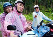 Vợ chồng Thu Trang - Tiến Luật hăng hái đi phượt bằng xe máy, rong chơi trong mưa giữa đảo ngọc Phú Quốc