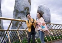 Nam Cường hẹn hò đi du lịch cùng Tố My, check in tại Cầu Vàng nổi tiếng ở Đà Nẵng