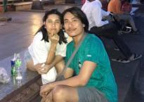 Cát Phượng để mặt mộc, vui vẻ đi chơi cùng Kiều Minh Tuấn ở Campuchia