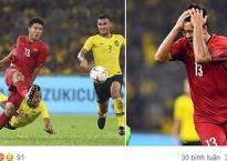 Facebook của Hà Đức Chinh nhận 'mưa gạch đá' sau trận hòa Malaysia