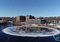 Đĩa băng xuất hiện trên sông hút hồn người xem ở Mỹ