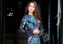 'Gái nhảy' Minh Thư khoe đường cong quyến rũ qua tà áo dài