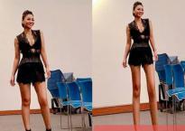 Dân mạng 'cười bò' với ảnh chân dài hàng mét của Thu Minh
