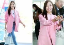 'Thư ký Kim' Park Min Young xinh tươi với tông hồng, ngọt ngào tặng kẹo cho mọi người ngày Valentine