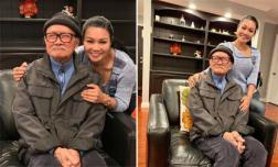 Ngọc Huyền lái xe đến thăm nhà nghệ sĩ cải lương Diệp Lang tại Mỹ