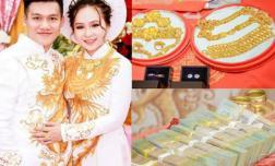 Cô dâu SN 2000 sáng nhất ngày: Dạm ngõ nhận tiền mặt gần 1 tỷ, 'khuyến mại' thêm 13 cây vàng kèm nhẫn kim cương