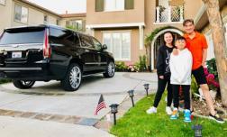 Mr Đàm đưa 2 con nuôi sang thăm biệt thự triệu đô tại Mỹ