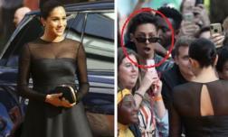 Công nương Meghan mặc đầm xuyên thấu hơn 100 triệu đồng trên thảm đỏ khiến fan há hốc mồm kinh ngạc