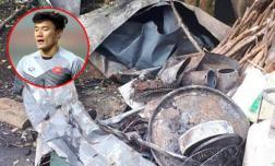 Nhà sàn của gia đình thủ môn Bùi Tiến Dũng bị thiêu rụi, thiệt hại hơn 300 triệu đồng
