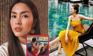 Sao Việt 13/9/2019: Tăng Thanh Hà khoe gần rõ mặt hai con, Hồ Ngọc Hà lộ thân hình gầy nhom