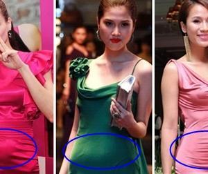 Loạt người mẫu của sàn catwalk Việt lộ bụng như 'có bầu'