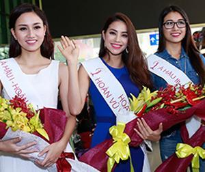 Phạm Hương rạng rỡ tại sân bay trở lại TP. HCM sau đăng quang