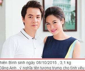 Vợ Đăng Khôi đã hạ sinh con trai nặng 3,1 kg
